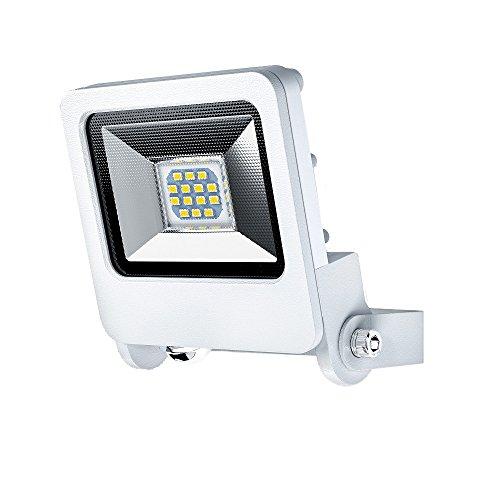 OSRAM - ENDURA FLOOD LED Außenscheinwerfer - IP65 wasserdicht - 10 W - 700 Lumen - 180 ° schwenkbar - 3000K warmweiß - Weiß