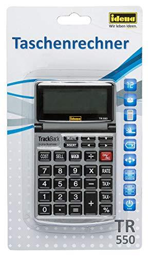 Idena 13200 Taschenrechner TR 550, Business mit 12-stelligen Display