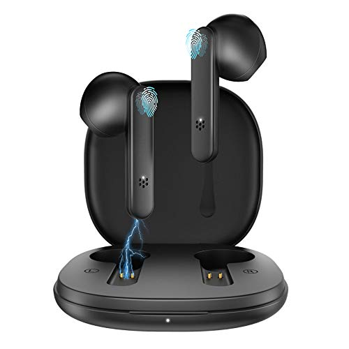 GAMURRY Cuffie Bluetooth Auricolari Bluetooth 5.1 con Controllo Touch,Senza Fili TWS Cuffie Wireless con Ricarica Rapida USB-C,Microfoni Integrati,IPX5 Impermeabili,per iOS Android,Laptop,PC