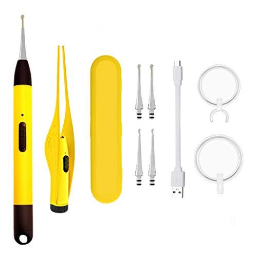 F Fityle Kit de Herramientas para Eliminar Cera de Oídos con Luz Y Lupa, Limpiador de Orejas, Pinzas, Juego de Cucharas para Niños Y Adultos + Caja de Almacena - Estilo 3