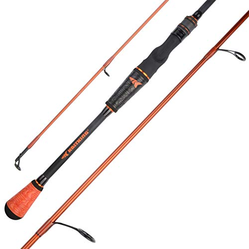 KastKing Speed Demon Pro Bass Fishing Rods, Spinning Rod-Finesse Tube-6ft 10in Medium Light - Fast