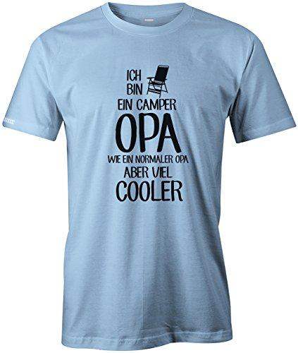 Jayess Ich Bin EIN Camper Opa - Wie EIN normaler Opa Aber viel Cooler - Herren T-Shirt in Hellblau by Gr. XL