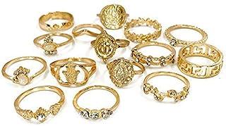 rings set vintage knuckle women jewelry