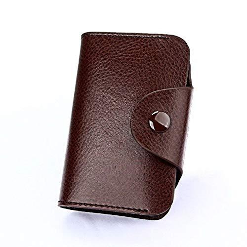 UKKD Cartera Caja De Cuero De La Carpeta Ultra Delgada De Aluminio PU De Protección RFID Mini Metal Wallet Encopela Automáticamente El Bolso...