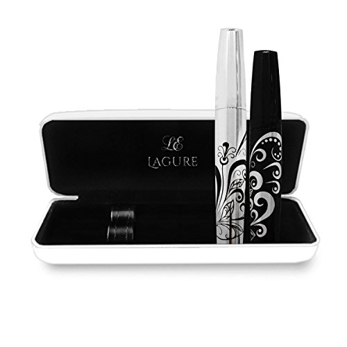 400x Silk Fiber Lash Mascara - Best for Thickening & Lengthening Eyelashes - Premium Quality, Last All Day, Waterproof, Smudge proof, Hypoallergenic - Includes Carry Case