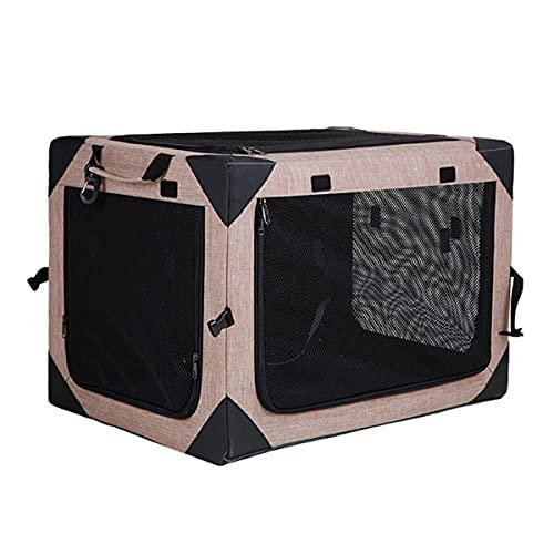 BVVB Tragbares Haustier-Reisezelt, Haustierkäfig, faltbares, atmungsaktives Haustier-Hundebett - Autotransport-Hundekäfig-Tasche für Hunde oder Katzen, Hundehüttensitz mit verriegelnden(Size:S)