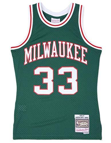 Kareem Abdul-Jabbar Milwaukee Bucks Men's 1970-71 Green Swingman Jersey (X-Large)