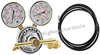 Harris Nitrogen Purging Regulator 25GX-500-580 HVAC WITH 6 Foot High Pressure Hose and a FREE Roll of Teflon Tape