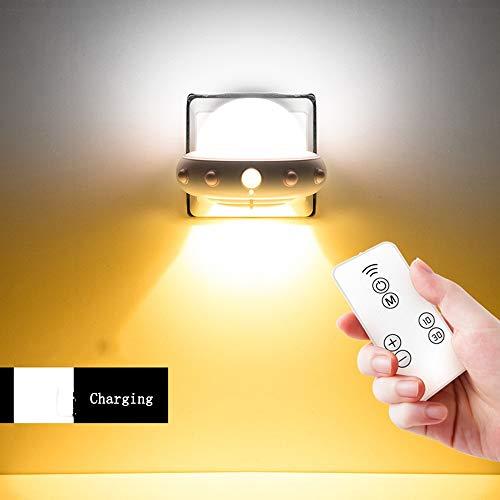 UFO Night Light Recharge Télécommande Lampe Chambre Lampe De Chevet Lampe Enfants Lampe De Chevet Chambre Chevet Veilleuse (Color : White, Edition : Charging)