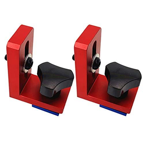 2 Piezas Mitre Track Stop para T-Ranura, T-Tracks Manual Duradera en Uso, Herramienta de Carpintería, Herramienta de Bricolaje