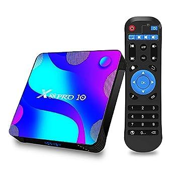 Android TV Box 11.0 4GB Ram 32GB Rom EASYTONE Smart TV Box RK3318 Quad-Core 64Bits 2021 Newest TV Box Supports 2.4G/5G Wi-Fi Bluetooth 4.0 USB 3.0 4K UHD Ethernet Android Box