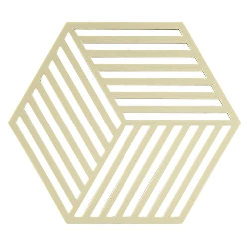 Zone Sottopentola tavolo sconer Hexagon strisce 16x 14cm silicone limone