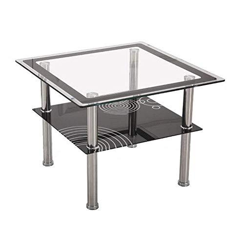 NBVCX Decoración de Muebles Mesas auxiliares para el hogar Mesa para portátil Mesa elevadora Desmontable Tablero de Cristal Templado Transparente para Todas Las Estaciones de Trabajo 60 * 60 * 60 cm