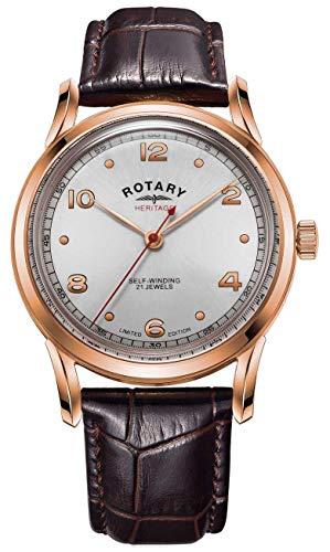 Rotary Patrimonio maschile in edizione limitata | cassa in oro rosa | GS05144/70