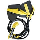 Ferok - Elastico Sport Sollevamento Pesi - Banda di Resistenza Fitness con Cinghia e Piastra di Nuoto - Ideale per l'Allenamento per la Forza a Casa - Versione Light Gialla