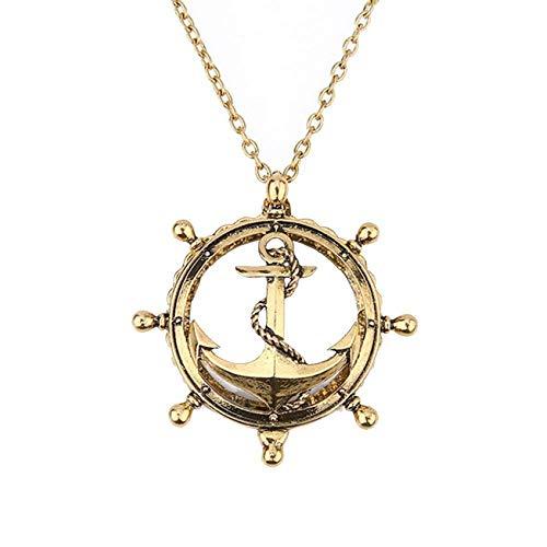 GRPBZ Mini 2.5X Retro Sección Goldlong Necklace Hombres Antiguos Reading Pendant Jewelry Handheld Lupatifall/Código de Productos: LJW - 1126