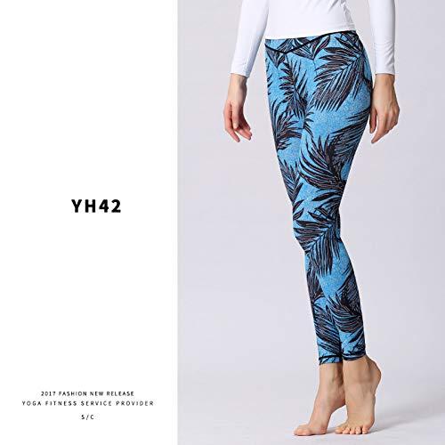 NSYJK yogabroek fitness yoga sports leggings voor vrouwen stretched bedrukt yoga leggings werkbroek dames loopbroek stretchbroek