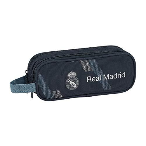 safta Real Madrid 2 Federmäppchen, 21 cm, Blau (Azul)