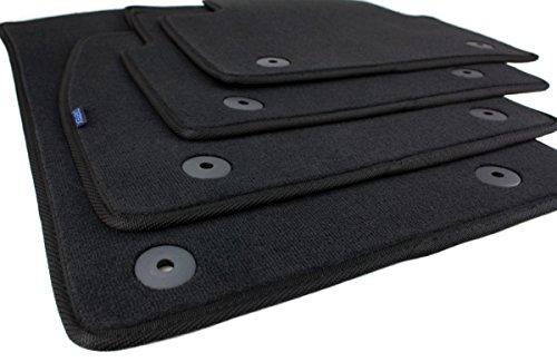 Fußmatten/Velours Automatten Stoffmatten 4-teilig schwarz