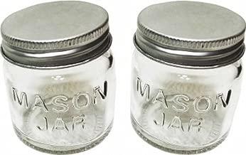 Set of 2 MINI MASON JARS, glass with metal screw-top lids