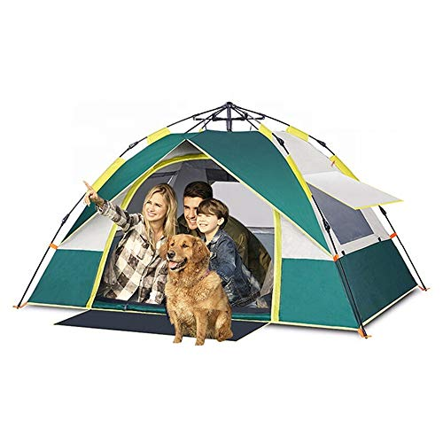 MHCYKJ 3Man Tent Waterproof Camping Outdoor Camping Inflatable Pop Up Tent 2-3 Person Fully Automatic Spring Beach Travel Top Glamping Kids Beach Tent,Green