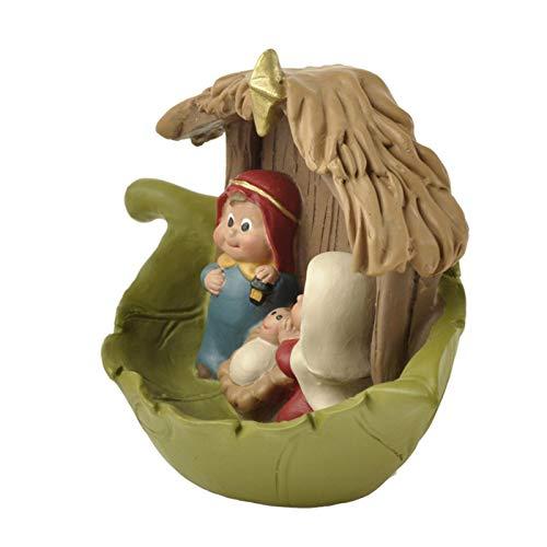 Sroomcla Colgante de Resina Figuras de Pesebre de Navidad de bebé Jesús Decoración de Escena de Estatua de Natividad Colgante de Resina Fashionable