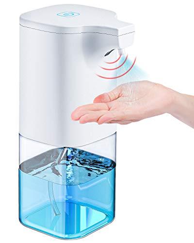 Tesoky Automatisch Desinfektionsspender Automatisk Sprühspender 350ml mit Sensor Infrarot Elektrischer Seifenspender Automatisch für Badezimmer, Küchen, Hotel, Restaurant/öffentlicher Ort