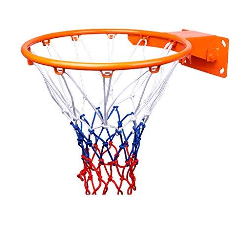 YINGZI Mini Anillo de Baloncesto Montado en La Pared del Aro de Baloncesto c el Kit Combo y La Actualización del Marco de Metal para Adultos y Niños para Exteriores para Niños Accesorios incluidos