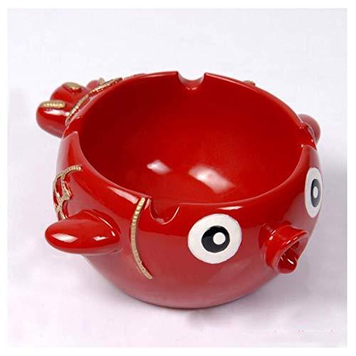 Goldfish - Bandeja de cenizas de resina para el hogar, oficina, accesorios creativos para cigarrillos (color: rojo) YXF99 (color: rojo)