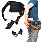 Anniston Kids Toys, Adjustable Elastic Balls Storage Bag Pouch for Nerf Rival Zeus Apollo Refill Toy Outdoor Toys for Children Toddlers Boys Girls, Black
