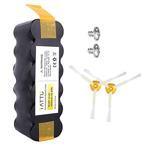 Tattu 14.4V 4500mAh Batterie de Remplacement pour iRobot Roomba, Ni-MH batterie Compatible avec iRobot Roomba Séries 500, 600, 700, 800