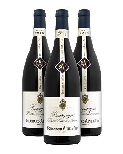 Bouchard Aîne & Fils Bourgogne A.O.C. Hautes Côtes de Beaune Vino Tinto - Borgoña, Francia - Pack 3 Bot. 75 cl