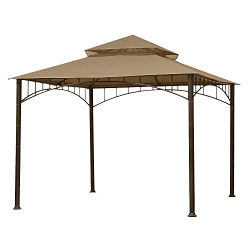 ABCCANOPY Replacement Canopy roof for Target Madaga Gazebo Model L-GZ136PST (Brown)