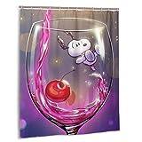 Snoopy Duschvorhang 152,4 x 182,9 cm, wasserabweisender Duschvorhang mit Haken, Polyester, exquisiter Druck, waschbar