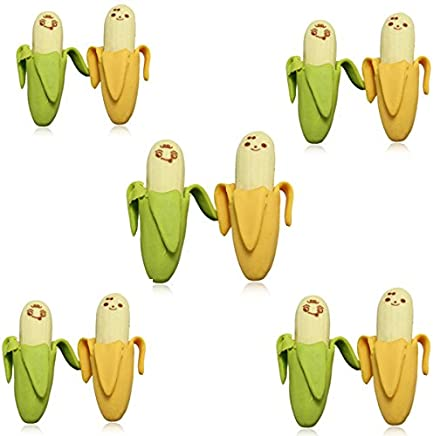 10 psc novità bella Fermo Banana Fruit gomma di matita - Trova i prezzi più bassi