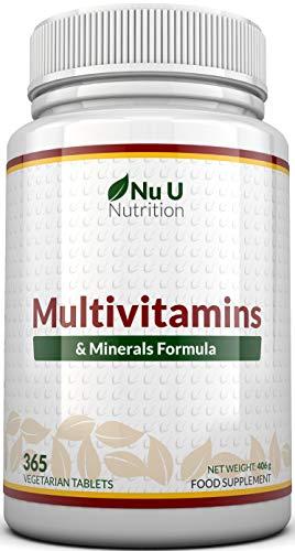 ✔ UTILE FONTE DI 24 VITAMINE E MINERALI - I benefici di 24 vitamine e minerali in un'unica compressa facile da deglutire. Ogni compressa contiene Vitamina A, Vitamina D, Vitamina E, Vitamina K, Vitamina C, Tiamina, Riboflavina, Niacina, Vitamina B6, ...