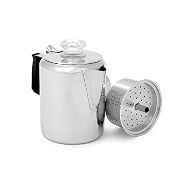 GSI Glacier Stainless Coffee Perk Cup, 3 Cup
