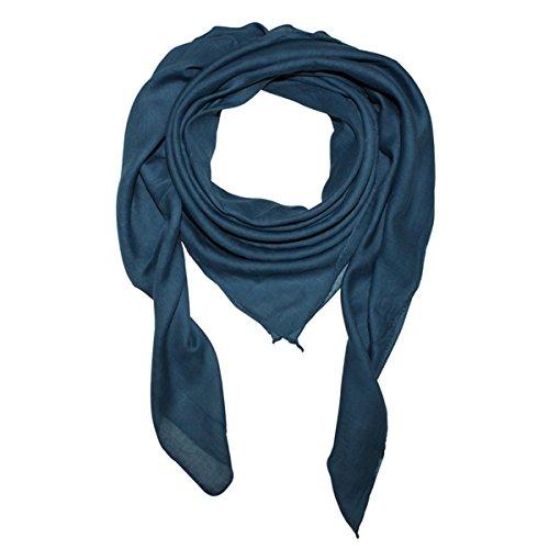 Superfreak® Baumwolltuch - Tuch - Schal - 100x100 cm - 100{cc03b90b5b7e101afc95f0f05a28c6bd6cc20f884bcd42bab35c8b70664f1f2d} Baumwolle, Farbe blau 2