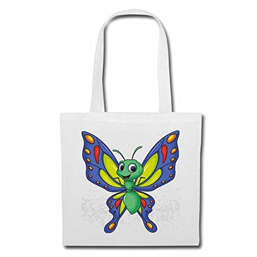 Tasche Umhängetasche FRÖHLICHER Schmetterling Butterfly Schmetterlinge TAGFALTER SCHWÄRMER EULENFALTER ZÜNSLER Insekten RAUPEN SCHMETTERLINGSZUCHT Metamorphose Ei RAUPE Puppe Einkaufstasche Schulbe