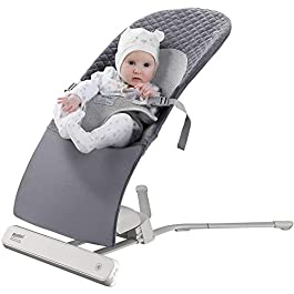 RONBEI Baby Bouncer Swing, Infant Swing and Bouncer,Portable Automatic Swing Bouncer for Baby-2 Swing Speed,8 Sounds,Motion Timing Monitoring