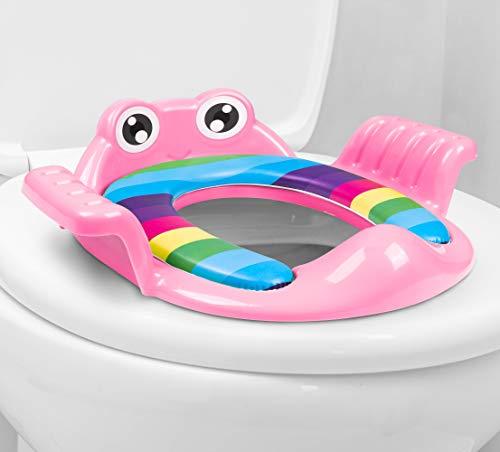 AP® - universeller Kinder-Toilettensitz, WC Aufsatz passend für alle Toiletten - Töpfchen-Trainer für Jungen und Mädchen von 1-7 Jahre - Toilettentrainer/Trainingssitz (Pink)