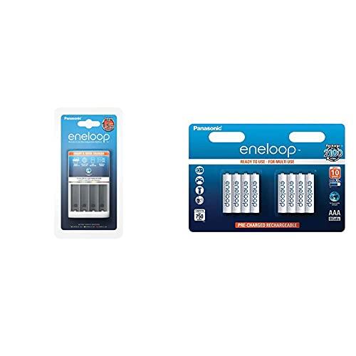 Panasonic Eneloop Lad.PANAS BQ-CC55 (CC16) Cargador rapido Inteligente + SY3052692 Pack 8 Pilas Recargables, AAA
