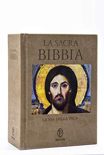 La Sacra Bibbia. La via della Pace. Edizione a caratteri grandi in ecopelle tortora