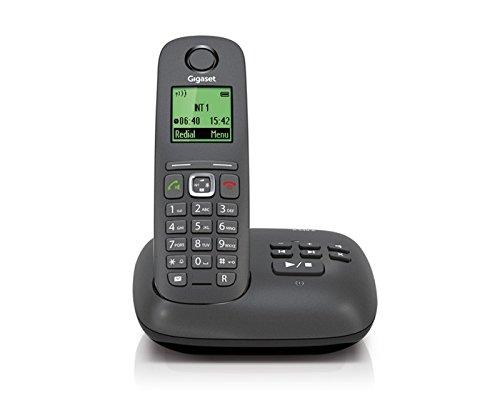 Gigaset A 540 A Telefono Cordless, Segreteria Telefonica, Display in 4 Colori, Nero [Italia]