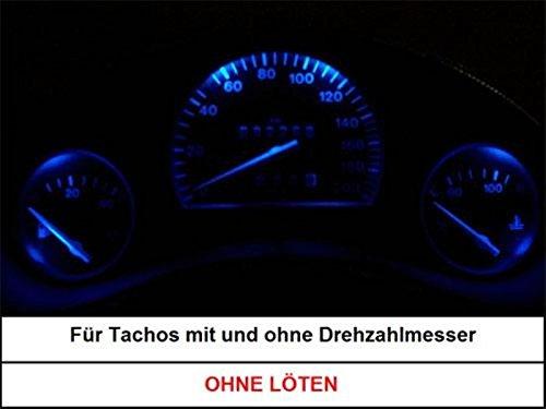 mec-light LED Tachobeleuchtung Opel Corsa B Tigra Combo B Blauer Tacho (Blau)