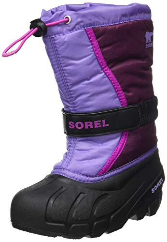 Sorel Youth Flurry Boot for Rain and Snow - Waterproof - Purple Dahlia - Size 2