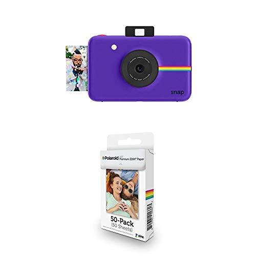 Polaroid Snap - Cámara Digital instantánea, púrpura + Paquete de 50 Hojas