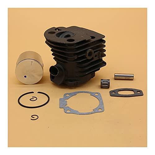XUEFURONG Juego de juntas del colector del cilindro del cilindro de 45 mm para Husqvarna 55 51 50 Partes del motor de la motosierra Placas Nikasil