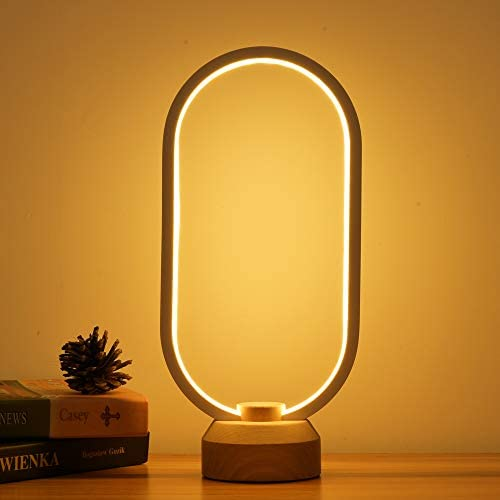 LONRISWAY LED Wood Desk Lamp Bedroom Bedside Night Light Dimmable Led Lighting Creative Home product image