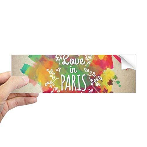 DIYthinker Kleurrijke Mark City Frankrijk Eiffel Toren Rechthoek Bumper Sticker Notebook Window Decal